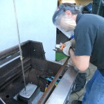 Rod working on the Gyro rotisserie